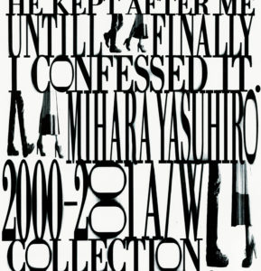 MIHARAYASUHIRO Invitation